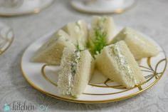 Downton Abbey cucumber sandwiches - I made these for a work celebration and got lots of compliments!