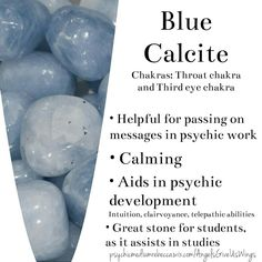 Blue Calcite crystal meaning