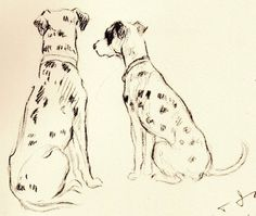 GORGEOUS Vintage Dog Print 1937 Lucy Dawson Original Art