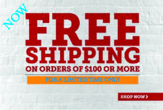 Free Shipping on all orders of $100 or more  http://bigcheetah.com/