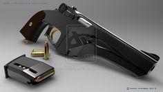 Steampunk Pistol by dreamdesigner442 on deviantART...more like dieselpunk