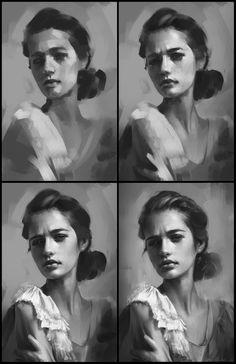 Portrait Practice 9 Process by AaronGriffinArt on DeviantArt