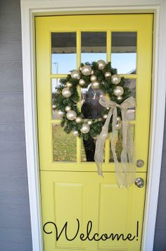 Gorgeous yellow door via @Tatertots and Jello .com
