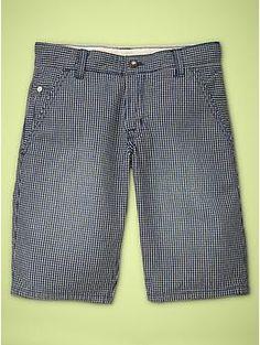 Indigo checked shorts by GAP Kids.