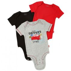 Disney Cuddly Bodysuit™ with Grow-An-Inch-Snaps™ CARS 3-Pack