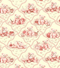 Nursery Fabric- Toys & Stars Pink & nursery fabric at Joann.com