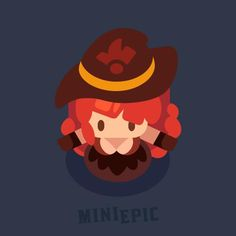 Female Mage Character Game Concept Art by MiniEpic www.MiniEpic.com