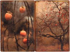 Red Spheres I and II by Thea Schrack
