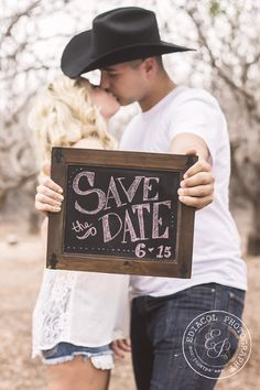 Here are some country chic engagement and save the date photos, thanks to Gilbert Arizona Photographer!