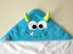 Handtücher - Badetuch mit Kapuze, Baby Badetuch - ein Designerstück von CielFlora bei DaWanda