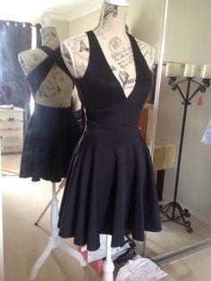Mid Length Black Dress