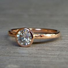 rose gold ring.Like the texture on the band:)