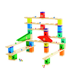 Hape Quadrilla Wooden Marble Run Construction - Autobahn - Quality Time Playing Together Wooden Safe Play - Smart Play for Smart Families Toddler Toys, Kids Toys, Wooden Marble Run, Marble Runs, Toys For Little Kids, Marble Tracks, Hape Toys, Marble Machine, Activity Toys