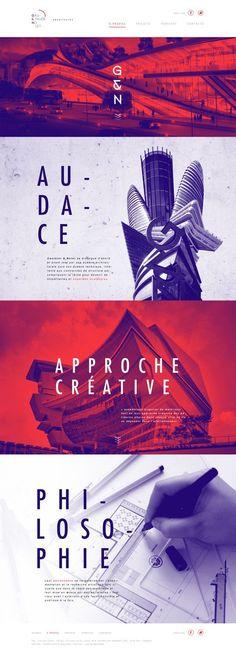 Gauthier & Nolet Architectes by Justin Bechard #ResponsiveWebDesign