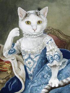 Кошки в живописи. Рисунки кошек. Кошки в искусстве.