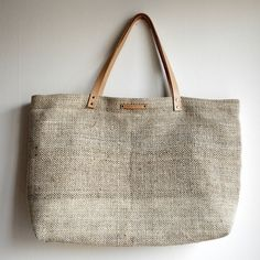 Hemp and cotton shopping tote by // Between the Lines //, via Flickr