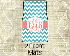 Custom Personalized Set of Car Floor Mats  by LittleGoddessBtq, $69.99
