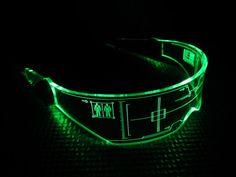 The original Illuminated Cyber goth visor Citadel CLEAR