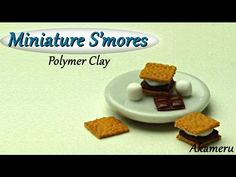 Miniature S'mores - Polymer Clay Tutorial - YouTube