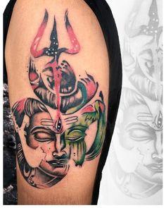 Om with Lord Shiva Om Tattoos, Meaning Tattoos, Buddha Tattoos, Lord Shiva Sketch, Trishul, Mythology Tattoos, Shiva Tattoo, Tattoo Photography, Goa India