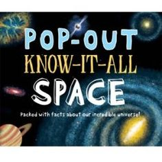 Pop out know it all space Know It All, Pop Out, Toys Online, Educational Toys, Childrens Books, The Incredibles, Facts, Space, Card Making
