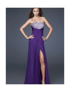 Chiffon Sweetheart Strapless Neckline Empire Prom Dress