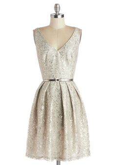 Silver Belle of the Ball Dress, #ModCloth