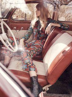 Julia Stegner by Benny Horne for Vogue Australia March 2015