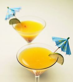 Enjoy the freshest mango flavor possible in this Thai mango martini. A blended vodka, vermouth, and fresh mango cocktail, it's an easy party drink.