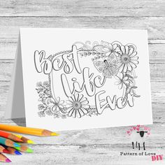 Best Life Ever Coloring Printable Note Cards | Etsy Jw Gifts, Dotted Line, Note Cards, Life Is Good, Card Stock, Moose Art, Coloring, Printables, Notes