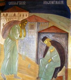Saint Silouan the Athonite was a Russian monk who lived and struggled at Saint Panteleimon Monastery on Mount Athos in the early centur. Orthodox Christianity, The Life, Saints, Pilgrims, Ph, Painting, Santos, Pilgrim, Painting Art