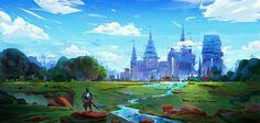Summer https://www.artstation.com/p/vwgGD Denis Istomin Artist -- Share via Artstation Android App, Artstation © 2016