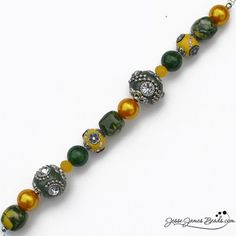 Green Bay Packers - Team beads in green and gold