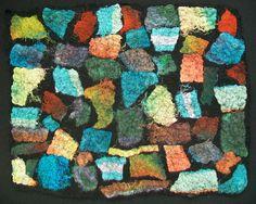 Silk mosaic after felting by zedster01, via Flickr