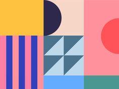 Freelance illustrator & graphic designer ✌🏻️ I love geometric shapes, vivid colors and tuna makis. Flugblatt Design, Game Design, Pop Art Design, Book Design, Cover Design, Layout Design, Pop Art Colors, Mood Colors, Color Pop