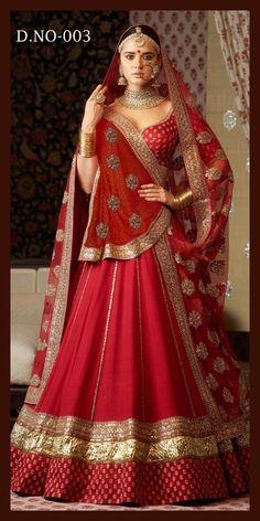 Red Colour Taffeta Silk Fabric Party Wear Lehenga Choli Comes With Matching Blouse. This Lehenga Choli Is Crafted With Embroidery. This Lehenga Choli Comes With Unstitched Blouse Which Can Be Stitched. Designer Bridal Lehenga, Indian Bridal Lehenga, Indian Bridal Outfits, Indian Bridal Fashion, Indian Bridal Wear, Indian Designer Outfits, Indian Dresses, Lehenga Wedding Bridal, Wedding Chaniya Choli