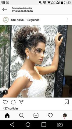 40 Most Popular ideas for prom hair black girls curls updo Curly Hair Updo, Bridal Hair Updo, Curly Hair Styles, Natural Hair Styles, Natural Hair Wedding, Wedding Curls, Natural Wedding Hairstyles, Bride Hairstyles, Purple Hair Extensions