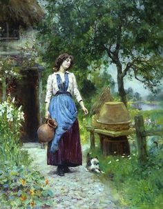 (1855-1924) Was born in London on August 21, 1855. Henry John Yeend King was an important  Victorian genre and landscape artist.