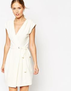 ASOS | ASOS Wrap Dress with Eyelet Details at ASOS