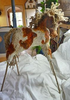 """""""Papier Mache Horse"""" by Maure Bausch"""
