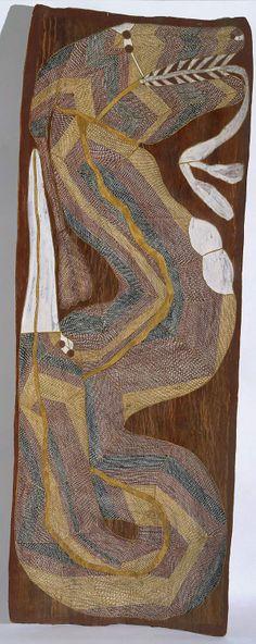 Ngalyod, the rainbow serpent, (circa 1985) by Jimmy Njiminjuma