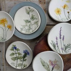 wildflower ceramic plates