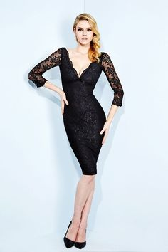 WHEELS AND DOLLBABY SCALLOP LACE FIFI DRESS in BLACK - New