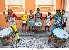 Salvador De Bahia - Bahia, Brazil * In the days leading up to Carnival, young Olodum drummers walk the streets of Salvador da Bahia practicing their rhythms.  The northern city of Salvador has the largest Carnival celebration in the world, and is known for its African influence.