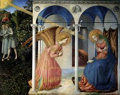 Annunciation by Fra Angelico in the Prado Museum painted before 1450 perhaps in 1426