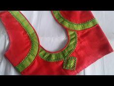 fancy saree blouse design - YouTube Pattu Saree Blouse Designs, Blouse Designs Silk, Designer Blouse Patterns, Dress Neck Designs, Patch Work Blouse Designs, Simple Blouse Designs, Stylish Blouse Design, Blouse Designs Catalogue, Blouses