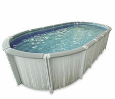The Florence is a stylish pool which is becoming popular in colder climates. Its all resin construction along with its NON buttress supports only take up inches of side space on an oval.  Starting at: $2,650.00