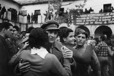SPAIN. Barcelona. The International Brigades are made to leave Spain by the Jallander Commission, which ordered the departure of all foreign troops fighting alongside the o