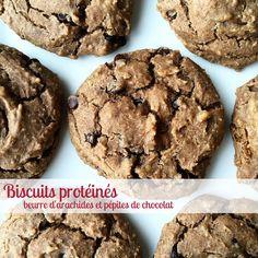 Biscuits protéines au beurre d'arachides et pépites de chocolat