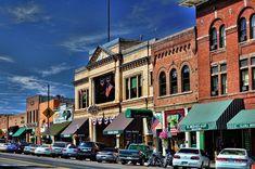 Whiskey Row shops, bars, and restaurants in downtown Prescott, AZ